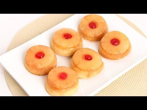 Mini Pineapple Upside Down Cakes Recipe - Laura Vitale - Laura in the Kitchen Episode 771 - YouTube