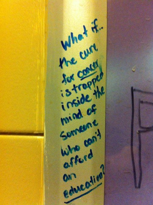 writings on stall walls, quotes