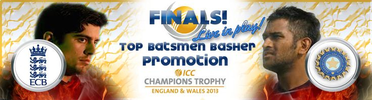ICC Champions Trophy Final The No. 1 Ranked ODI Team in the world vs the Proud Hosts who's your money on ?