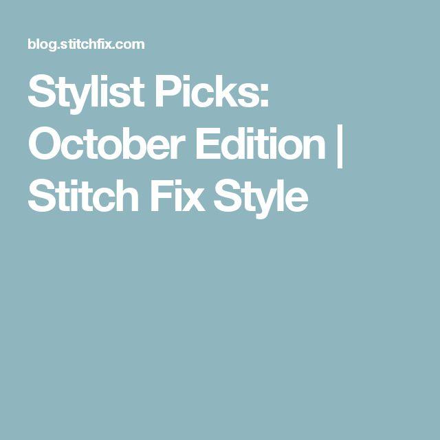 Stylist Picks: October Edition | Stitch Fix Style