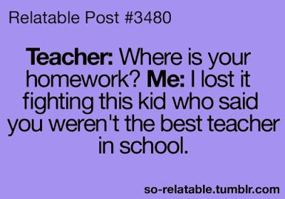 Ladies and gentleman, we bring you the best excuse ever for not having your homework.
