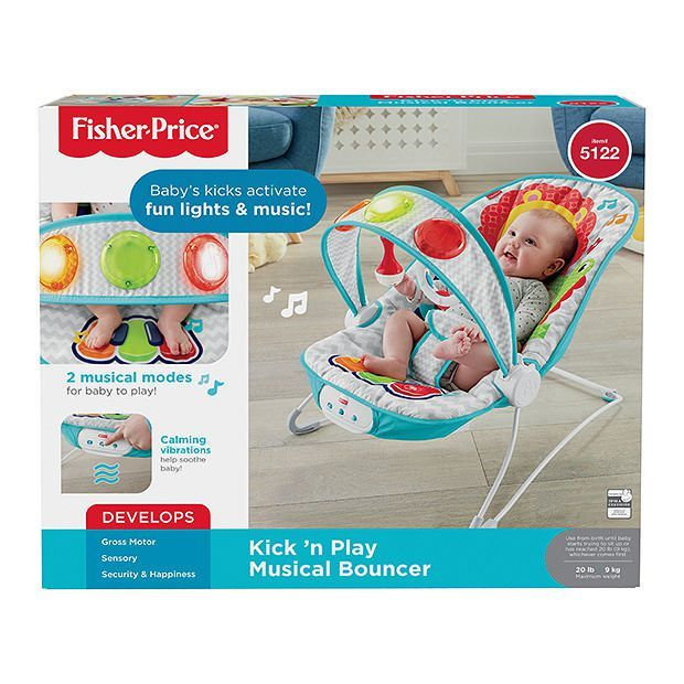 01cd1a1a1d4e Fisher-Price Kick  N Play Musical Bouncer