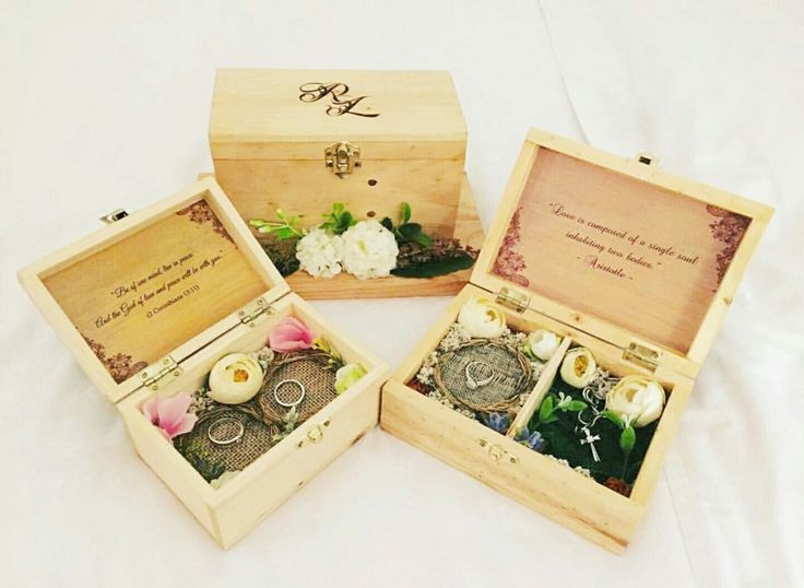 Wooden ring boxes in custom sizes for various purposes