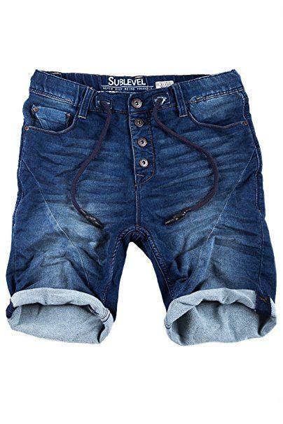 9dd2e32dd9900 Sublevel Jogg Jeans Shorts Herren Kurze Hose Denim Sommer Jogger Bermuda  Chino: - Sommer Hosen. Besuchen. Juni 2019