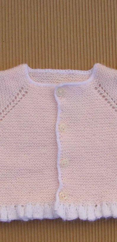 tutorial para hacer chaqueta de bebé a dos agujas