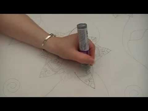 http://silkpaintingpatterns.com/Patterns-For-Silk-Painting.html Learn how to apply outliner or gutta to your silk with tips and advice to help you. You can g...