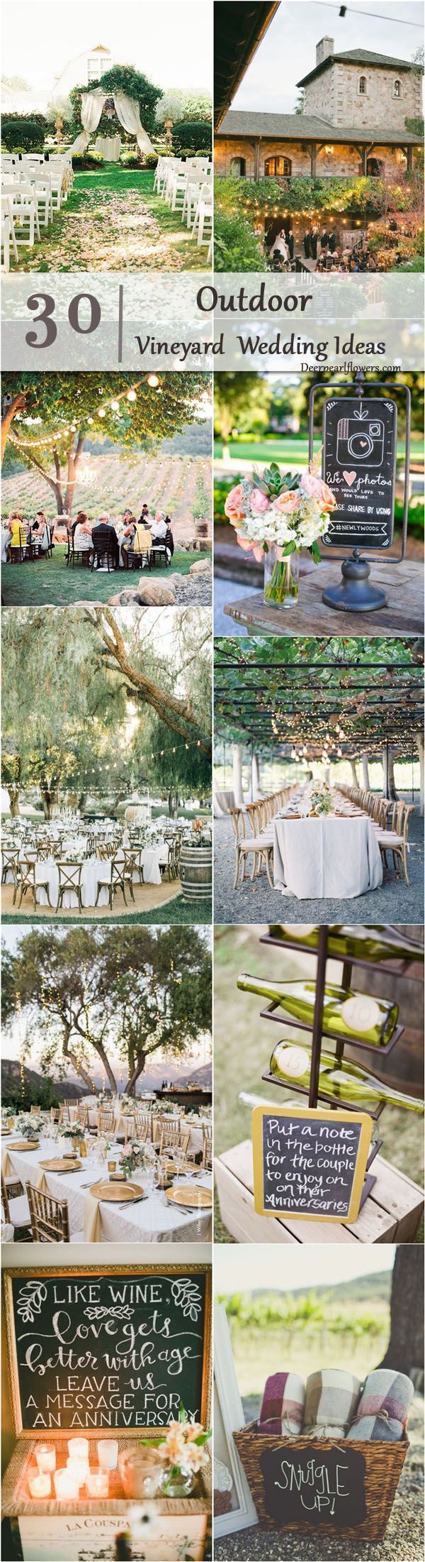 Vineyard Outdoor Wedding Decor Ideas / http://www.deerpearlflowers.com/outdoor-vineyard-wedding-ideas/