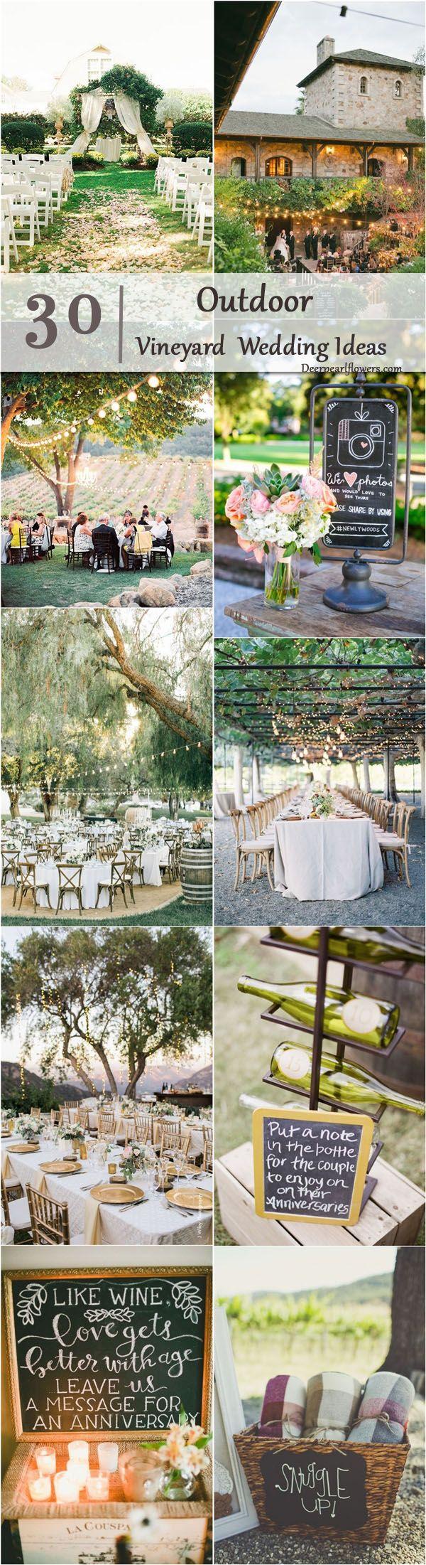 Vineyard Outdoor Wedding Decor Ideas / http://www.deerpearlflowers.com/outdoor-vineyard-wedding-ideas/
