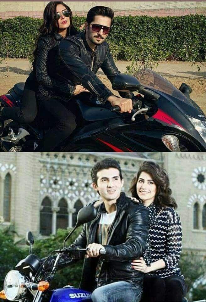 The bike riders: Ayeza & Danish,Syra & Shehroz