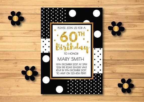 60th Birthday Invitations Milestone Surprise Women Party