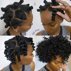 Achieve voluminous curls using Bantu knot out method.