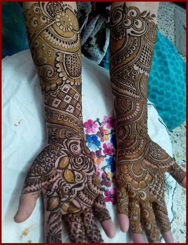 Latest Bridal Mehndi Designs Collection 2018 for Wedding