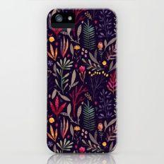 Botanical Pattern iPhone SE Slim Case