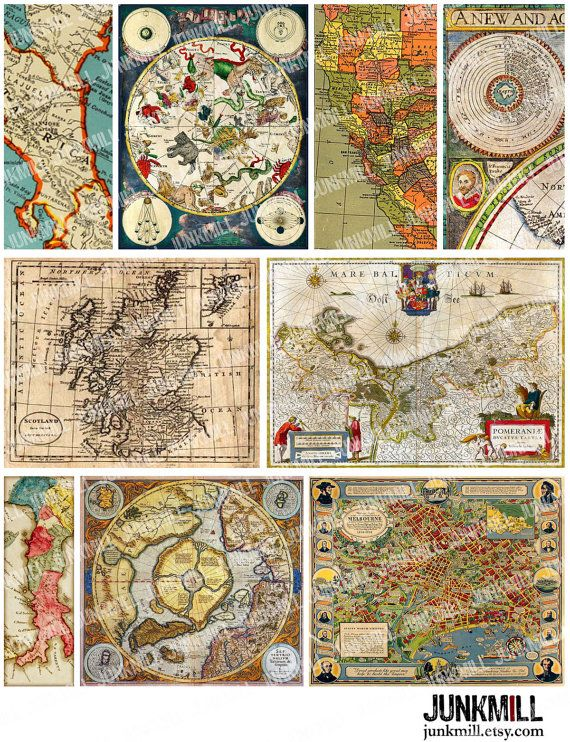 137 best maps etc images on pinterest antique maps old maps and antique maps digital printable collage sheet colorful vintage star charts old world maps gumiabroncs Choice Image