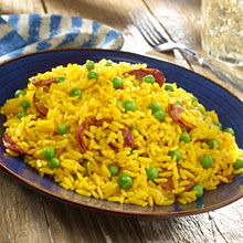 For an easy side dish that's loaded with Spanish flavor, this Yellow Rice with Chorizo recipe is a winner.