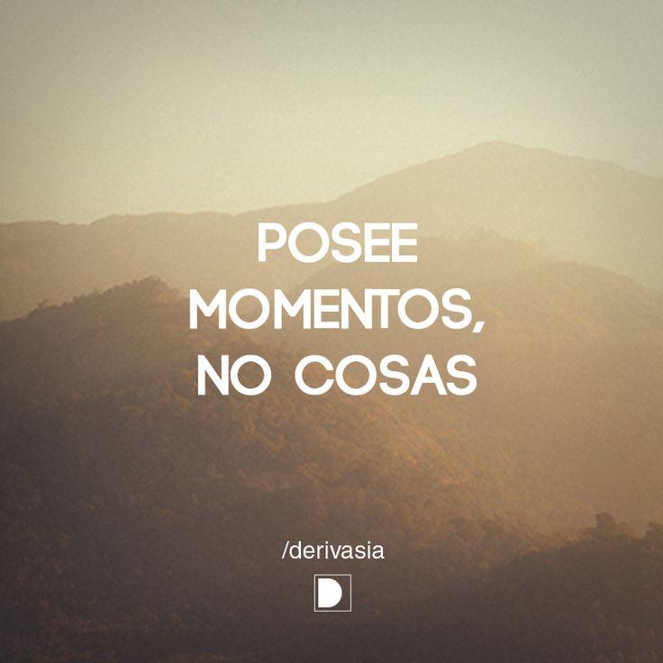 """""""Posee momentos, no cosas."""" Encuentra más inspiración para tus escapadas en www.escapadarural.com"""