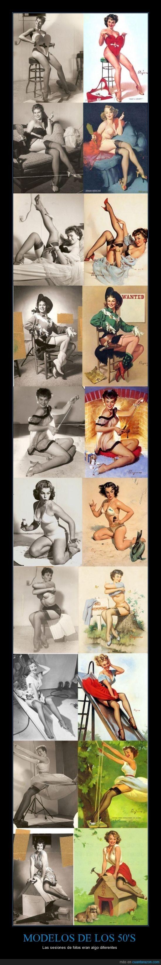 MODELOS DE LOS 50's - Las sesiones de fotos eran algo diferentes