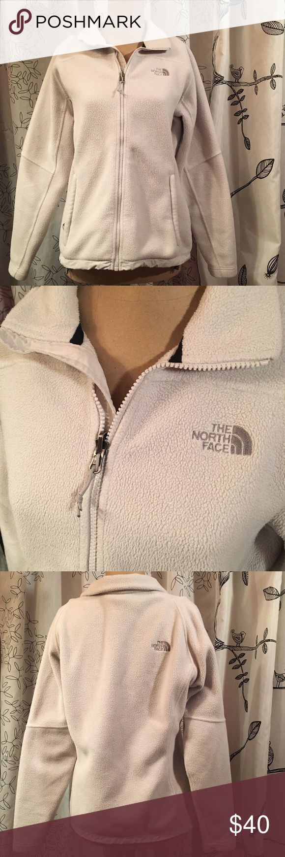 The North Face White Polartec Excellent used condition | M | White  Perfect time to buy it!! End-Of-Season sale price!! The North Face Jackets & Coats