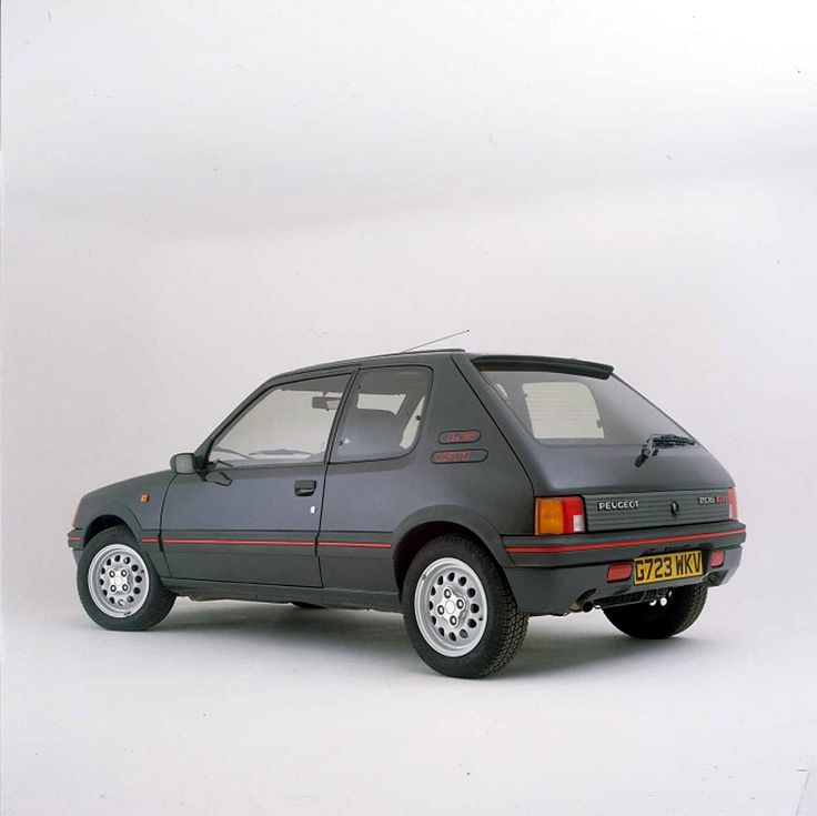 Peugeot 205 (owned). I had a diesel but made it look like this GTI, but in yellow!!!