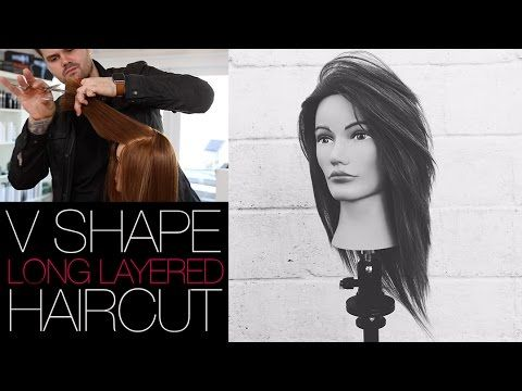 V-SHAPED HAIRCUT - How To Cut A Long Layered V SHAPE Haircut | MATT BECK VLOG #22 - YouTube