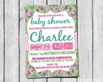 Paisley Baby Shower Invitations | Viac Ako 25 Najlepsich Napadov Na Pintereste Na Temu Paisley Baby