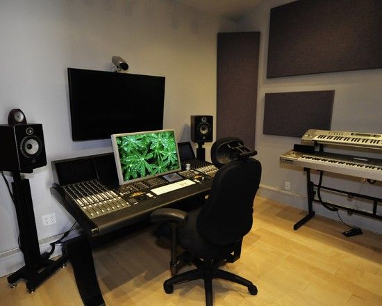 Inspiring Home Recording Studio Design: Home Recording Studio Design Idea  For Cool Music Room Design