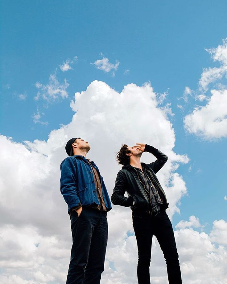 """The wait is over under halcyon skies (Ayla)"" Orlando & Felix of The Maccabees (Photo ©Robin Alysha Clemens)"