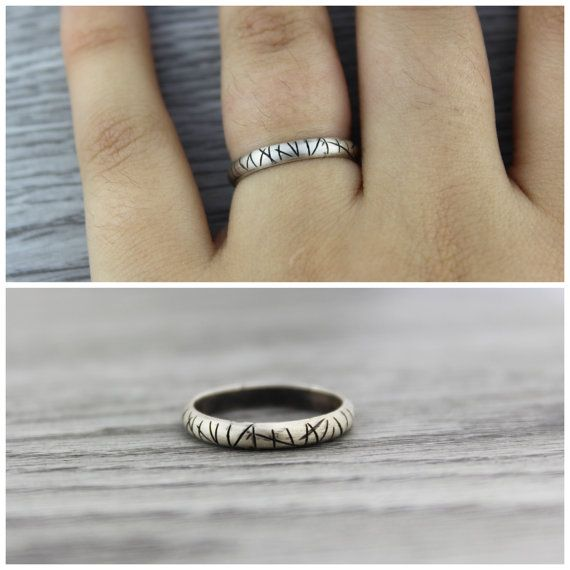 Sterling Silver Textured Ring. Rustic. Sterling by TempestSociety