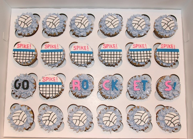 Volleyball cupcakes for an end of season party!  Safe for those with peanut allergies.