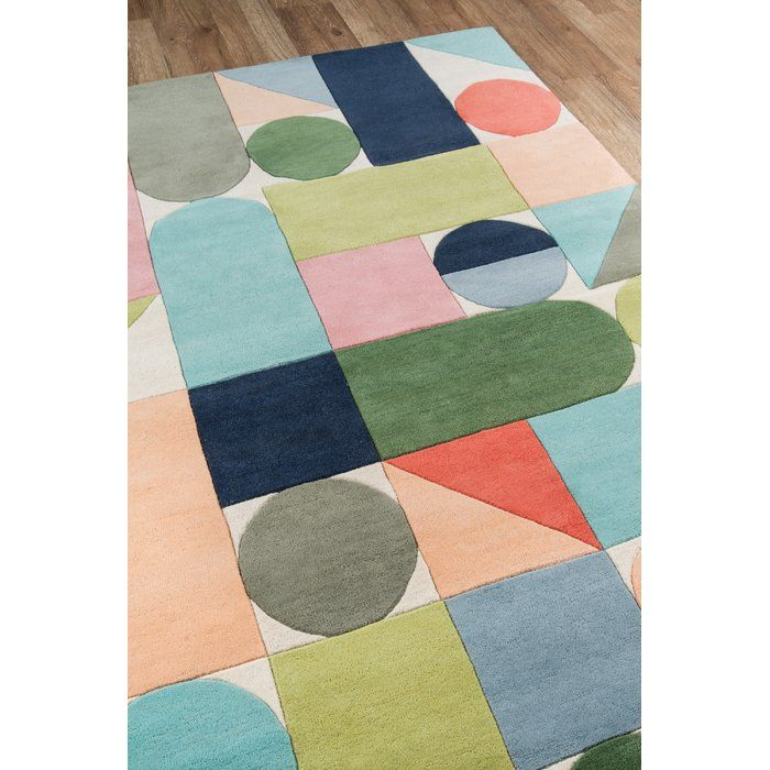 Novogratz Wright Hand Tufted Wool Blue Green Area Rug Reviews Perigold Wool Area Rugs Area Rugs Hand Tufted Rugs