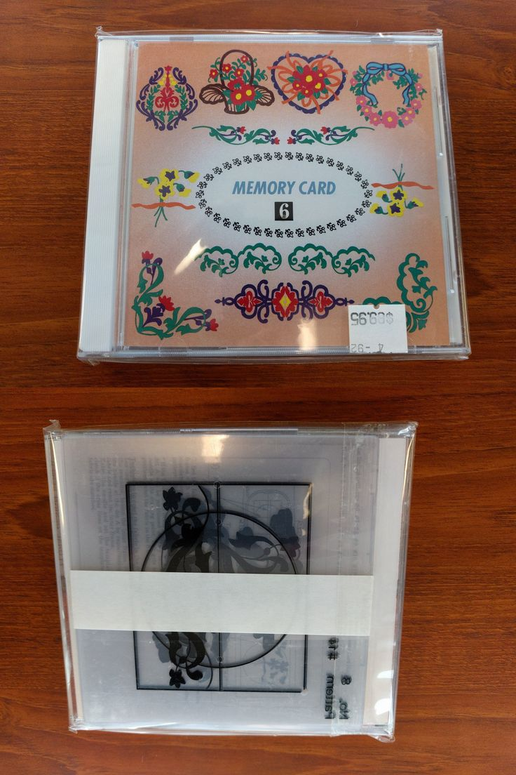 Janome memory craft 9000 - Design Cards And Cds 41383 New Janome Memory Card 6 Floral Designs