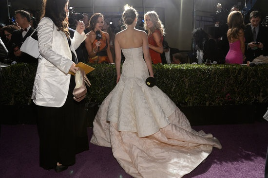 Oscar Winners Take Their New Statues to the Governors Ball: Quentin Tarantino held up his Oscar at the Governors Ball.: Daniel Day-Lewis posed with Ang Lee at the Governors Ball.  : Charlize Theron attended the Governors Ball after the Oscars.  : Jennifer Lawrence chatted with the press at the Governors Ball.