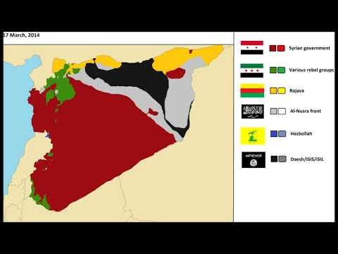 The Syrian Civil War, every day - YouTube
