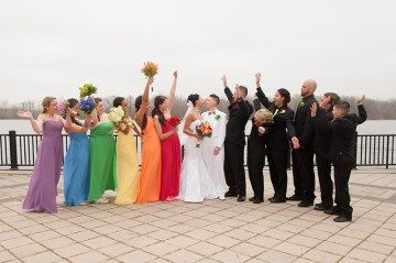 Rainbow wedding as seen on @offbeatbride