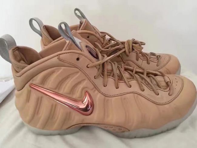 94736436f Nike Air Foamposite Pro Vachetta Tan Rose Gold
