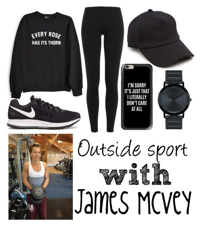 """Sport with James<3"" by beatrigitaa on Polyvore featuring Private Party, Polo Ralph Lauren, NIKE, rag & bone, Casetify and Movado"