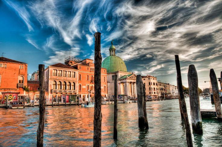 """Ian Robert Knight artwork - """"Venice Sunsets"""" dip2 a on www.reddotart360.com"""
