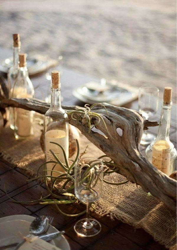 Bois Rustique Naturel Fleurs Pour Decoration Table Decoratie Bruiloft Decor Bruiloft Tafels