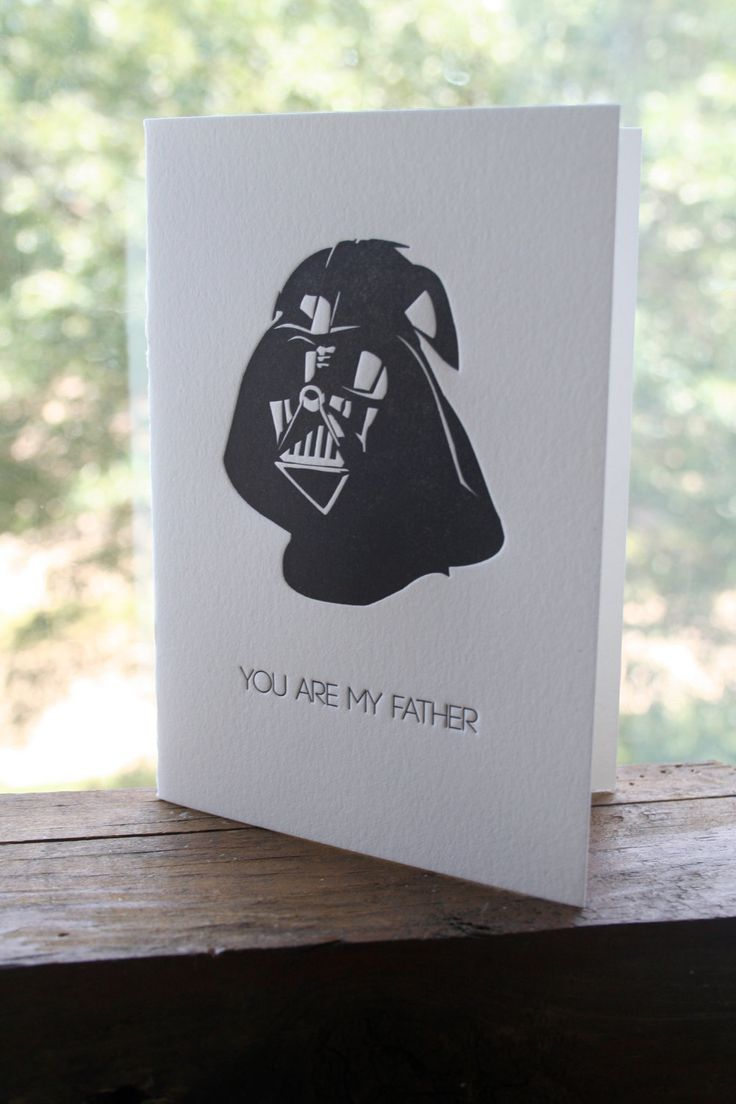 Darth Vader Father's Day Card von MethodLetterpress auf Etsy     For the nerd you call your Dad. Tell him you love him in his language.