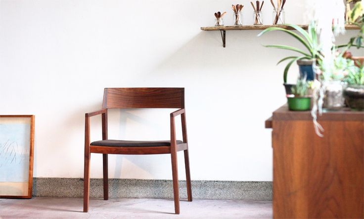 monokraft — Not content with only being a designer, Toru Shimizu spent a year studying woodwork at Capellagården, a self-sufficient school of craft founded by Carl Malmsten on an island in the south of Sweden, and now makes all the furniture by hand.