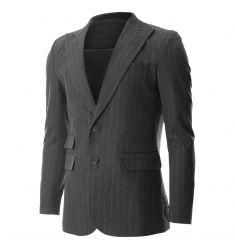 Mens Peaked Lapel Striped 2 Button Wool Blazer Jacket with Ticket Pocket (BJ471) #BLACKFRIDAY #CYBERMONDAY #MENS CLOTHING #MENS JACKET #MENS BLAZER #MENS FASHION #FASHION FOR MEN
