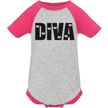 Cute Baby Diva Hearts | Cute Baby Diva Hearts Snap Shirt. Also available in different colors #baby #diva