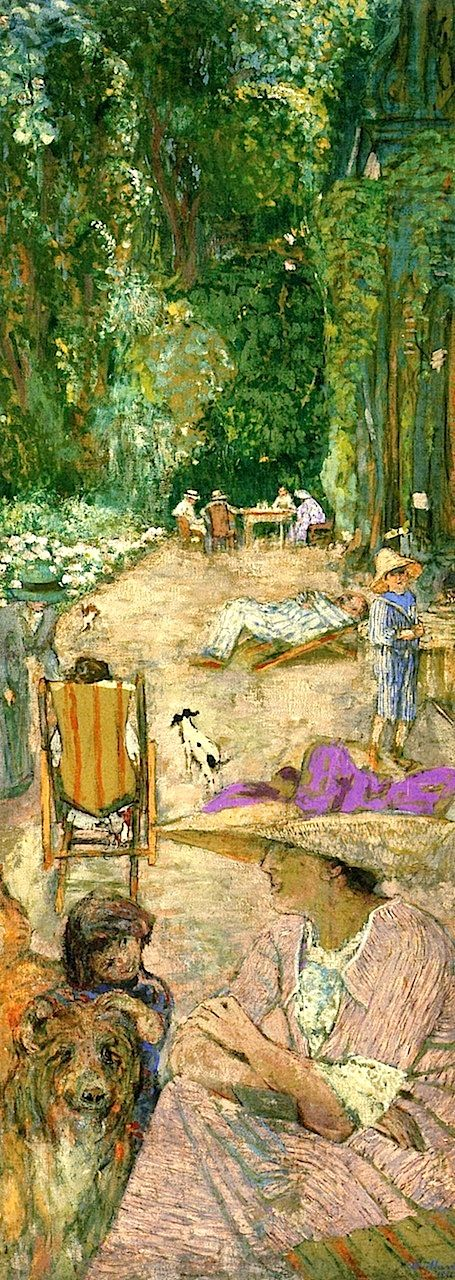 The Pavilions at Cricqueboeuf, in Front of the House Edouard Vuillard - 1911