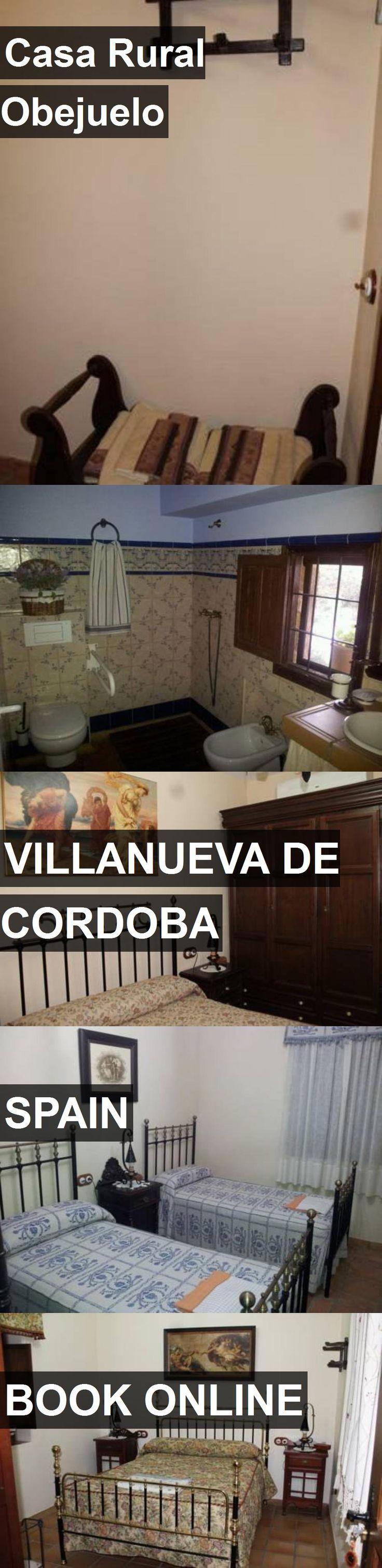 Hotel Casa Rural Obejuelo in Villanueva de Cordoba, Spain. For more information, photos, reviews and best prices please follow the link. #Spain #VillanuevadeCordoba #travel #vacation #hotel