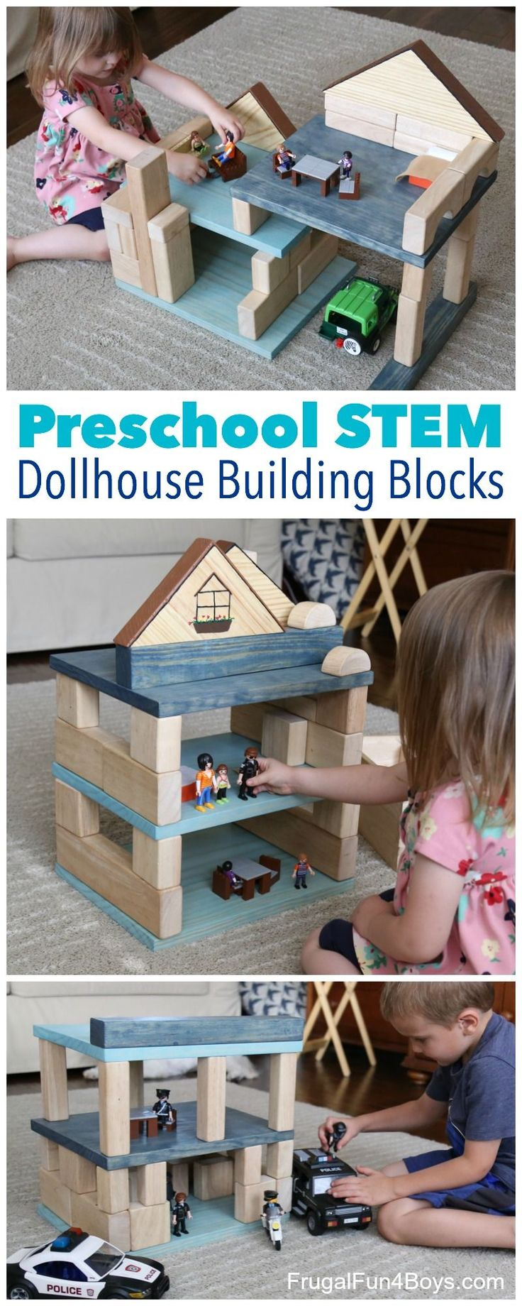 Make Your Own Dollhouse Building Blocks Set