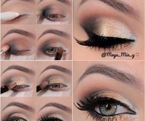 http://weddbook.com/media/1927376/weddings ♥ Gold smokey eyes makeup tutorial
