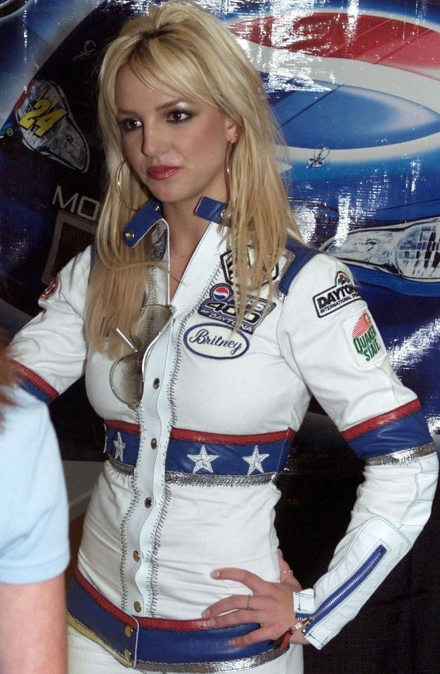 Britney at the Nascar Winston Cup Pepsi 400 - 2001 | It's ...
