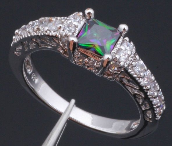 Gorgeous Vintage Style Lab Mystic Topaz Ring. Starting at $6 on Tophatter.com!