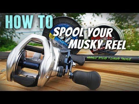 How To Spool Braided Line On Baitcast Reel Tranx 400 Youtube Fishing Reels Musky Fishing Shimano Reels