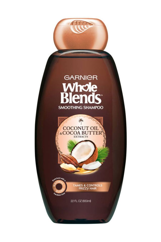 For Soft Hair: Garnier Whole Blends Coconut Oil and Cocoa Butter Shampoo and Conditioner  - MarieClaire.com